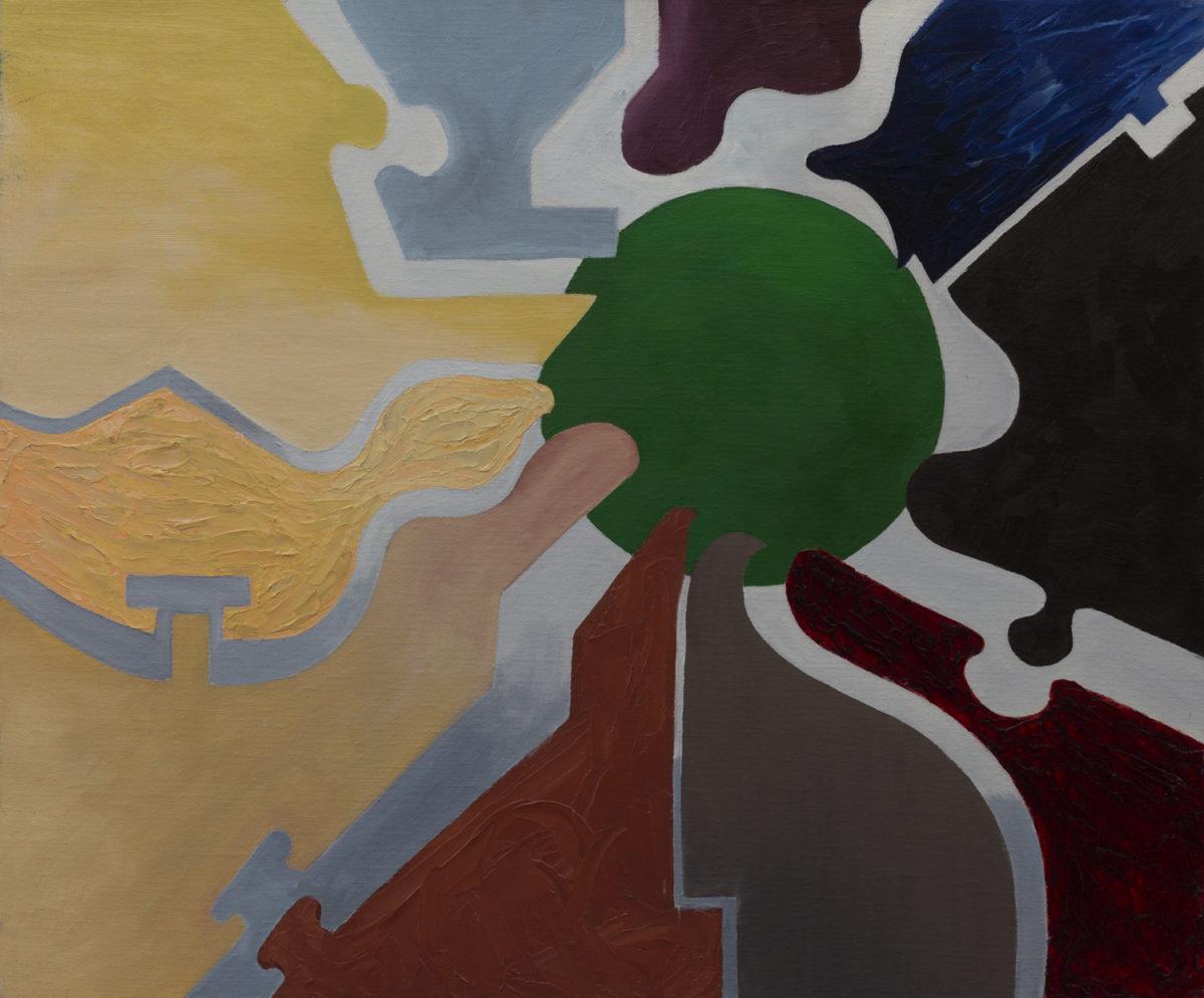 Peinture abstraite sur la convivialité